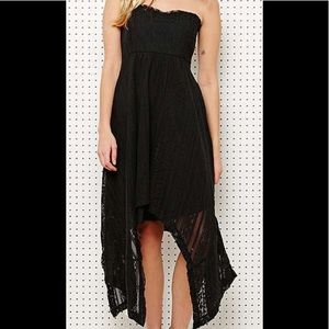 Free people strapless high low dress